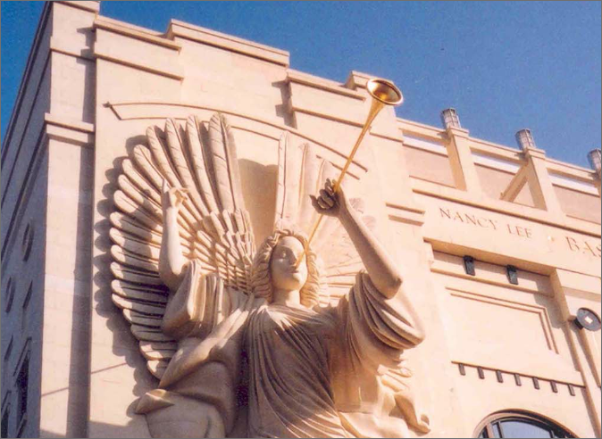 Angel on Grand Facade at Bass Performance Hall