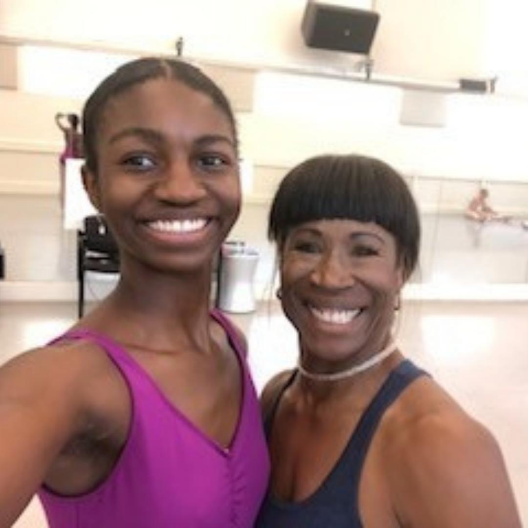 Two female dancers